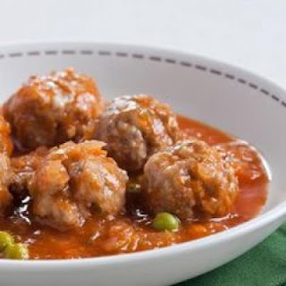 Meatballs, Cabbage and Peas
