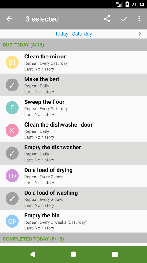 Clean My House - Task List Screenshot 2