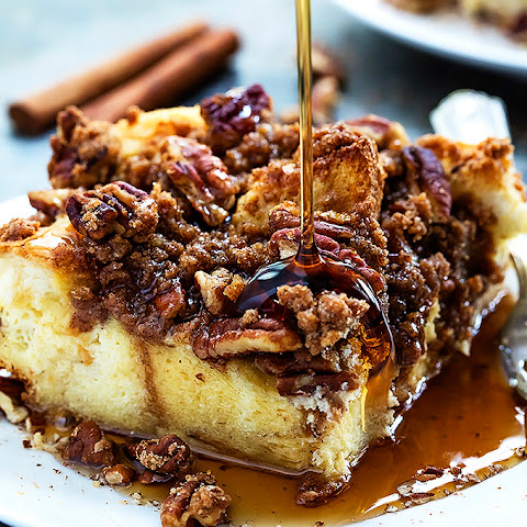 Overnight Cinnamon Pecan French Toast Casserole