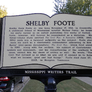 Shelby Dade Foote Jr. was born November 17, 1916, in Greenville. A childhood friend of Mississippi novelist Walker Percy, he began his early career as an author publishing five works of fiction. ...