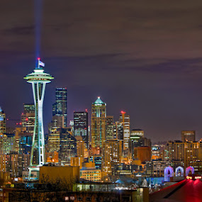 Midnight Seattle by Gavin Seim - Buildings & Architecture Other Exteriors