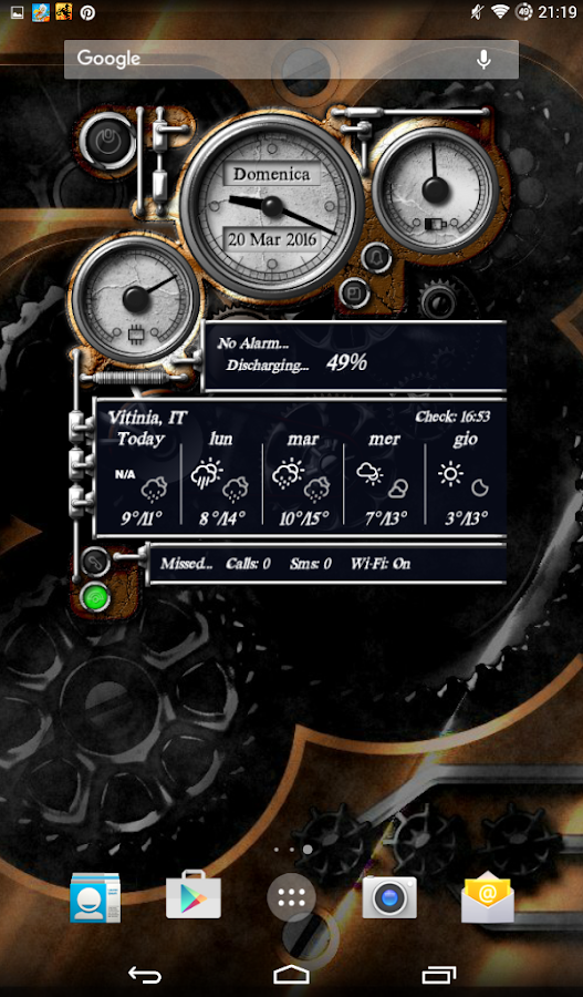 XtraOClock Steampunk Widget Screenshot 18