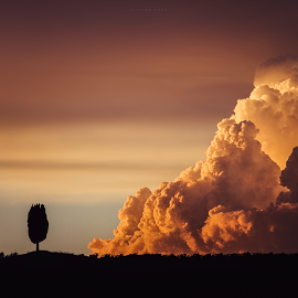 Thunderstorm is coming by Olivier Rocq Webdesigner - Landscapes Cloud Formations ( clouds, sky, landscape, toscany, italy,  )