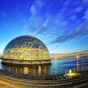 Marine bowl by Hiro Ytwo - Buildings & Architecture Other Exteriors ( sky, bay, sea, architecture, dusk, light )