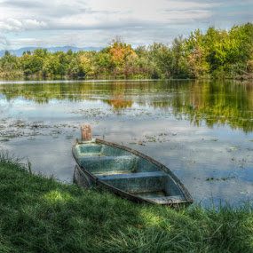 Boat by Dunja Dretvić - Landscapes Waterscapes