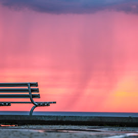 Rainy Sunset by Rob Cox - City,  Street & Park  City Parks ( township park, 135mm, conneaut, 6d,  )