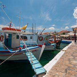 Kaiki by Grigoris Koulouriotis - Transportation Boats ( sky, samosisland, greece, sea, summer, boat )