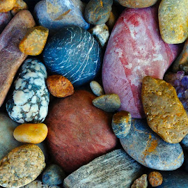 RIVER ROCK 11 by Gerry Slabaugh - Nature Up Close Rock & Stone ( nature, river rock, nature up close, rock, moraine )
