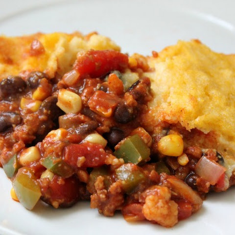 Crock-Pot Cornbread Chili Casserole