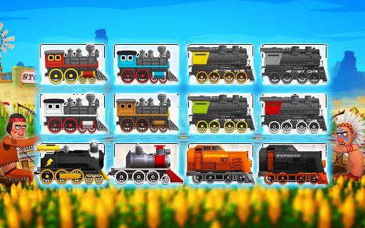 Western Train Driving Race