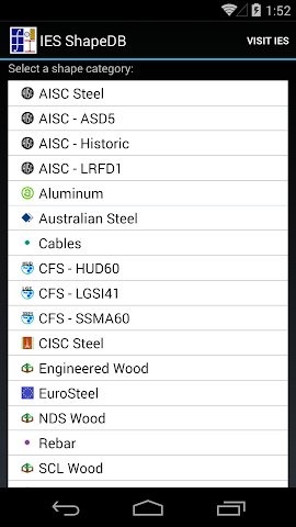 android IES ShapeDB Screenshot 0