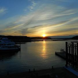 serenity in Bar Harbor by Sandy Davis DePina - Landscapes Sunsets & Sunrises ( sunset )