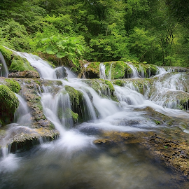 Waterfall by Adrian Urbanek - Landscapes Waterscapes