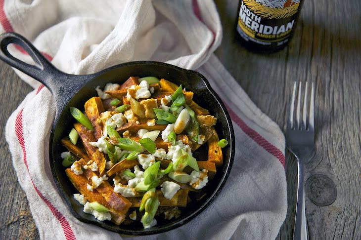 Sweet Potato Poutine with Miso Gravy Recipe | Yummly