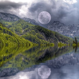 Reflection in logar valley by Dunja Milosic Odobasic - Digital Art Places (  )