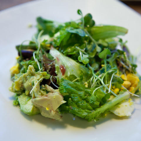 MICROGREEN SALAD WITH HARDBOILED EGG & AVOCADO