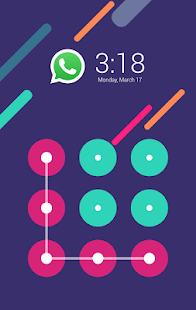 Purple Modern (AppLock Theme) - screenshot