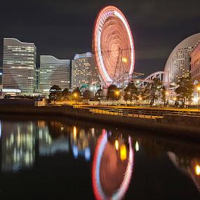 Yokohama Evening. by Ketut Pujantara - City,  Street & Park  Amusement Parks