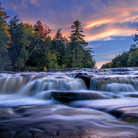 Cascade by Qing Zhu - Landscapes Waterscapes ( water, stream, scape, cascade, fall, falls, waterfall, slow shutter )