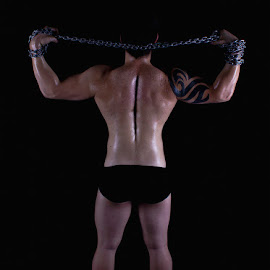 Scaping by Mel Stratton - Nudes & Boudoir Artistic Nude ( body, chain, male, muscle, back )