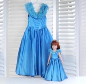 """Кукла серии """"Город Игр"""" 45 см с платьем, синий M"""