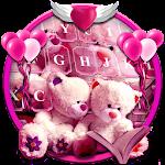 Pink Teddy Emoji Keyboard Icon