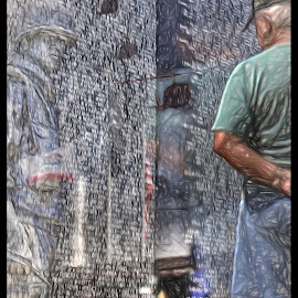 The Wall that heals by Tom Anderson - Buildings & Architecture Statues & Monuments ( march air reserve base, vietnam memorial, the wall that heals, traveling wall, riverside, california, march field )