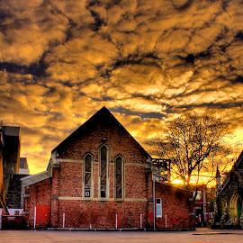 Burnt Sky by Bruce Nolan - City,  Street & Park  Skylines ( cityscape, brucenolan, city )