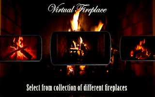Screenshot of Virtual Fireplace