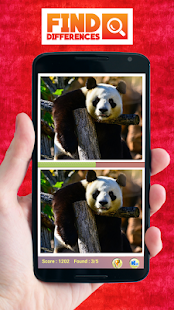Find The Differences Panda - screenshot