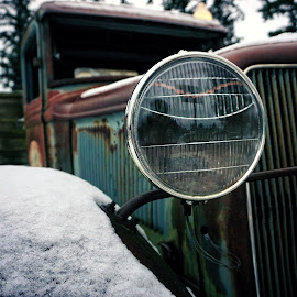 Snowy Ford  by Todd Reynolds - Transportation Automobiles