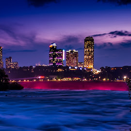 Niagara before it falls... by Rajat Das - City,  Street & Park  City Parks ( askrajat, niagara falls, sunset, long exposure, niagara, ny )