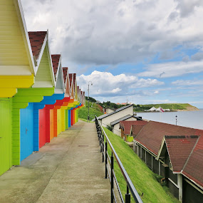 Beach Huts  by Eloise Rawling - Buildings & Architecture Other Exteriors ( scarborough, beach huts, north bay, beach )