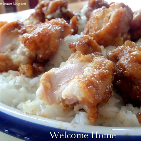 Honey Sesame Chicken over Sticky Rice