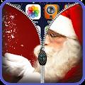 App Santa Claus Zipper Lock Screen apk for kindle fire
