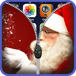 Santa Claus Zipper Lock Screen Icon