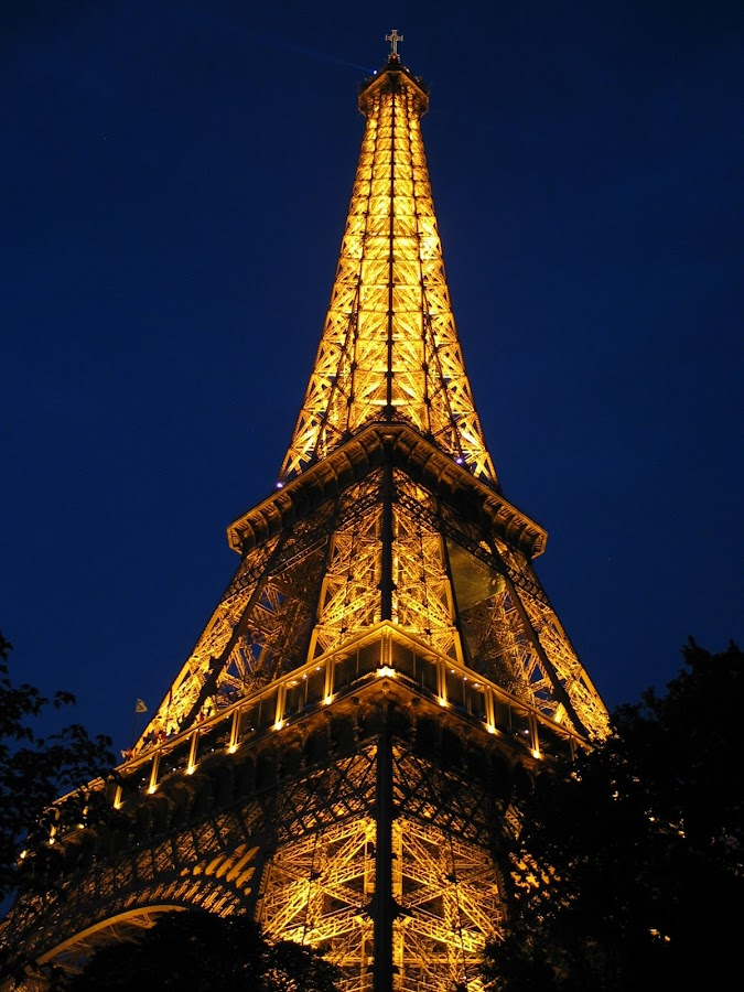 Eiffel Tower, corner view by Robert Burger - Buildings & Architecture Statues & Monuments