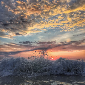 Morning fury  by Rob King - Landscapes Beaches ( waves, dramatic, beauty, sunrise, sun,  )