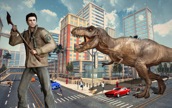 Dinosaur Hunting 2017: City Attack Survival Game apk screenshot