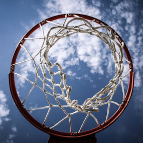 Below the Rim by Habashy Photography - Sports & Fitness Basketball ( basketball, hoop )