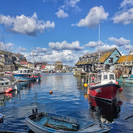 Mevagissey by Lynda Read - City,  Street & Park  Vistas