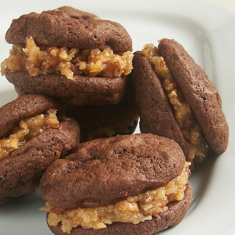 Chocolate Coconut Pecan Sandwich Cookies