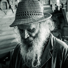 The old wooden craftsman by Magda Creosteanu - People Portraits of Men ( white beard, old craftsman, old man )