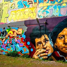 Street wall art by Hariharan Venkatakrishnan - City,  Street & Park  Street Scenes ( street, art, painting, wall, colours )