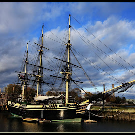 M/V Friendship by Talbot Brooks - Transportation Boats ( m/v friendship, tall ship, m/v, salem, national historic site, sailing ship )