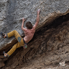 Boulder time by Maria Yudin - Sports & Fitness Climbing ( climbing, outdoor climbing, outdoor, boulder, climber, outdoor life, bouldering )