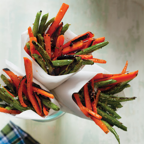 "Rosemary-Garlic Carrot and Green Bean ""Fries"""