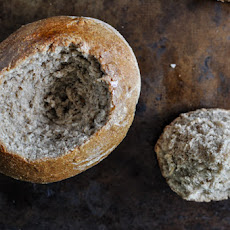 Homemade Whole Wheat Bread Bowls.