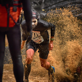 Run ! by Marco Bertamé - Sports & Fitness Other Sports ( water, muddy, splatter, splash, strong, leader, number, 344, run, strongmanrun, running, man )