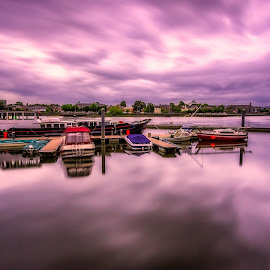 Cloud Rush by Rashid Ramdan - Landscapes Travel ( water, sky, ireland, limerick, habour, boats, cloudy, long exposure, travel, photography )